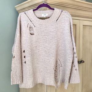 Umgee Oversized Distressed Sweater